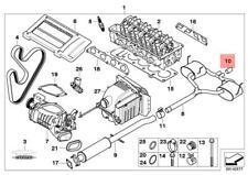 Genuine BMW R52 R53 3 doors Convertible Chrome Tailpipe Trim OEM 18107556986