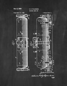 Railway Tank Car Patent Print Chalkboard