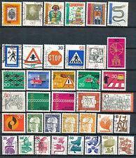 Bundespost jaargang 1971 gebruikt (2) zonder C/D (driezijdig getande zegels)