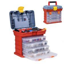 Electrician Tools Box 4 Layer Storage Portable Screw Hardware Kit Organizer Case
