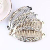 Fashion Women Banana Clip Crystal Hair Clip Hairpin Accessories Headwear K6L2