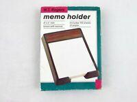 "Vintage W T Rogers Memo Holder w/Paper 7"" x 5"" Unused in Original Box"