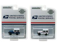 Greenlight 1:64 United States Postal Service USPS 1971 Jeep DJ-5 Set of 2