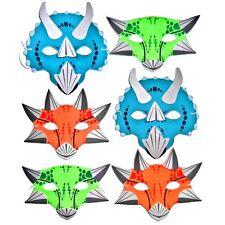 6 Foam Dinosaur Childrens Masks - Jurassic Kids Fancy Dress