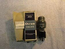 OSRAM KT33C VALVE / TUBE. NEW OLD STOCK. FREE UK SHIPPING.
