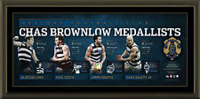 GEELONG AFL SIGNED OFFICIAL BROWNLOW LITHOGRAPH FRAMED AFLPA ABLETT JNR. BARTEL