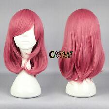 Love Live Nishikino Maki Red Medium 45CM Wavy Anime Cosplay Wig + Wig Cap
