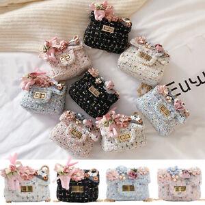 Child Kids Girls Rabbit Flowers Handbag Shoulder Messenger Bags Crossbody Wallet