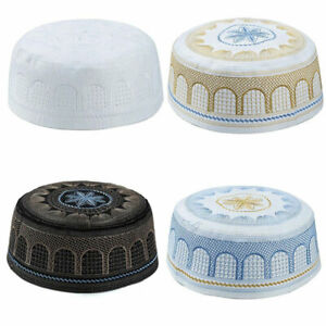 Fashion Muslim Islamic Prayer Hat Arabic Hats Men Muslim Caps Indian Hat Cap