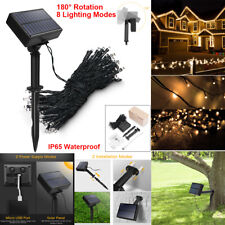 100 LED Solar String Fairy Lights Waterproof Outdoor Xmas Decoration Party Lamp