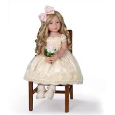 """ASHTON DRAKE  PEARLS LACE AND GRACE DOLL 28"""" MARY JANE SHOES AND CHAIR"""