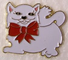 Hat Lapel Pin Scarf Clasp Cat Kitten with Bow NEW