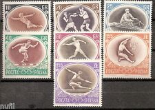 POLONIA Poland yv # 871/877 ** MNH Set Olimpics Melbourne 1956