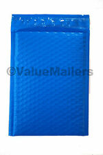 500 #000 ( Blue) Poly Bubble Mailers Envelopes Bags 4x8 Extra Wide Colors 4.5