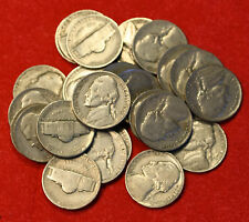 1939-P JEFFERSON NICKEL ROLL (40 COINS) CIRCULATED NICE COINS CHECK OUT STORE