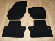 Volvo XC70 Auto 2007-on Fully Tailored Car Mats Black/Blk trim & Volvo fixings.