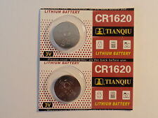 2- Cr1620 / DL-1620 - Batteries-3V-Guaranted-Fast Shipping