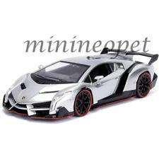 JADA 99706 HYPER SPEC LAMBORGHINI VENENO 1/24 DIECAST MODEL CAR SILVER
