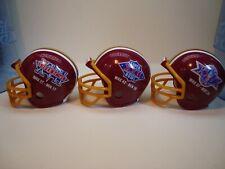 (3) Washington Redskins Riddell Pocket Pro Super Bowl Helmets