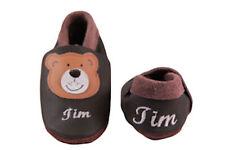 Krabbelschuhe Lederpuschen  personalisiert mit Name Leder Schluppie Modell Teddy