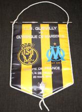 RARE FOOTBALL FANION USQ QUEVILLY OM MARSEILLE 1/4 FINALE COUPE FRANCE 2012