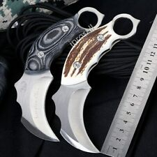 """6.3""""Scorpion KARAMBIT Bowie KNIFE Survival Hunting Camping Fixed Blade w/sheath"""