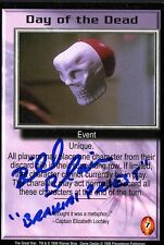 BABYLON 5 CCG Bill Blair THE GREAT WAR Day of the Dead TRADING CARD AUTOGRAPHED