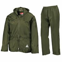 Result Mens Waterproof Windproof Heavyweight Jacket & Trousers Rain Suit + BAG