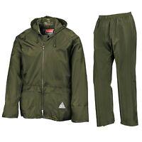 Result Mens Waterproof Windproof Heavyweight Jacket & Trousers Rain Suit + BAG