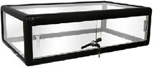 Black Glass Countertop Display Case with front lock