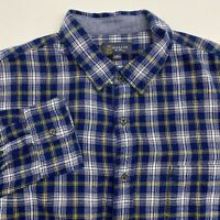 NWOT Wallin & Bros Flannel Button Up Shirt Men's Size XL Long Sleeve Blue Plaid