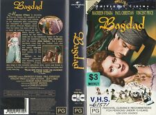 BAGDAD MAUREEN O'HARA VINCENT PRICE PAUL CHRISTIAN JEFF COREY RARE PAL VHS VIDEO