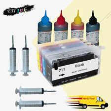 Refillable Ink Cartridge Kit for HP 711 HP711 HP Designjet T520 T120 Series