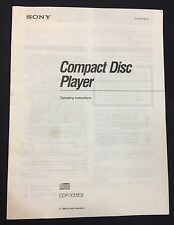 Sony CDP-X33ES CD Player Original Owners Manual 26 pages cdpx33es