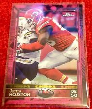Justin Houston  2015 Topps Chrome <Pink> Refractors - Serial #d /399 -- Chiefs