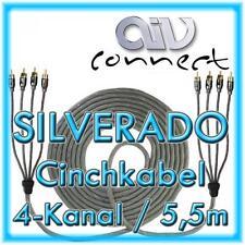 AIV Connect 890253 4-Kanal-Cinchkabel SILVERADO 5,5m 550cm
