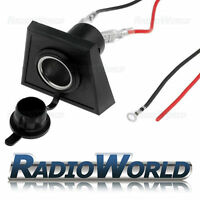 Universal Car Cigarette lighter socket panel mounting Underdash 12v 10a w/ wire