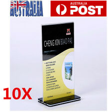 10x DL Size Acrylic Sign Holder Retail Display Stands Menu Restaurant Display AU