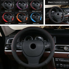 38CM Black PU Leather Auto Car Styling Steering Wheel Cover Protector Anti-Slip