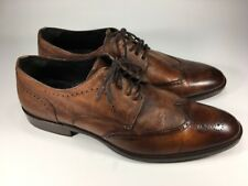 Johnston & Murphy $395 Fielden Wingtip Blutcher Italian Oxfords Mens Size 11.5 M