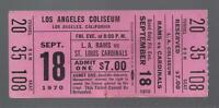 1970 NFL ST LOUIS CARDINALS @ LOS ANGELES RAMS FULL UNUSED FOOTBALL TICKET