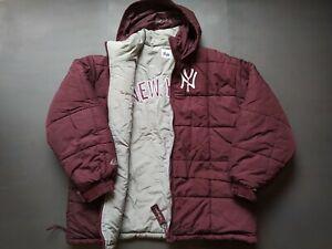"NEW YORK YANKEES Extreme Winter Jacket Retro Vintage Baseball Majestic MLB ""L"""