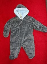 First Impressions Snowsuit/Pram size 3-6 mo retail $54.50 Gray with Blue Stars
