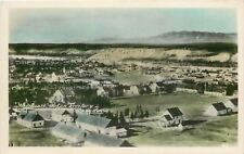 Whitehorse Yukon~Colorized Real Photo~Birdseye of Homes & Churches~1930 Postcard