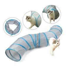 12'' Large Cat Tunnel 4 Holes S Shape Gym Folding Collapsible Tube Play Toy