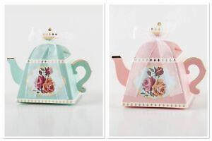 Alice in Wonderland Mini Teapot Shape Wedding Favours Candy Boxes-UK seller