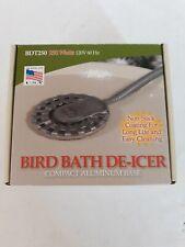 New Open Box Bird Bath De-Icer 250 Watts 120 Volt Api Bdt250 energy Efficient