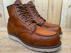 Red Wing Heritage 875 Oro-Legacy Moc Leather Boots-Sz UK 6 | USA 7 E