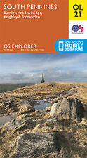 OL21 South Pennines Ordnance Survey Explorer Map OL 21