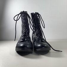 Brash Black Combat Boots Women's Size 8 Lace Up Boots